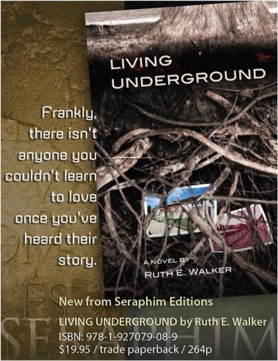 Ad for LIVING UNDERGROUND, a novel