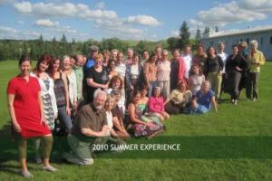 In Saskatchewan with other participants and staff of the 2010 Sage Hill Summer Experience and the Fiction Colloquiem. (Ruth, third from left, front row. Photo: Sage Hill)